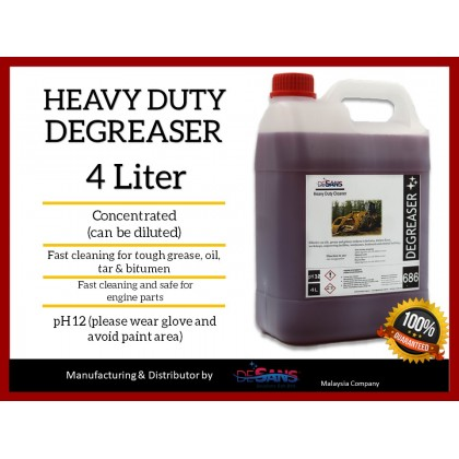 DESANS 686 Alkaline Heavy Duty Degreaser For Oil and Engine Cleaner 4000ml