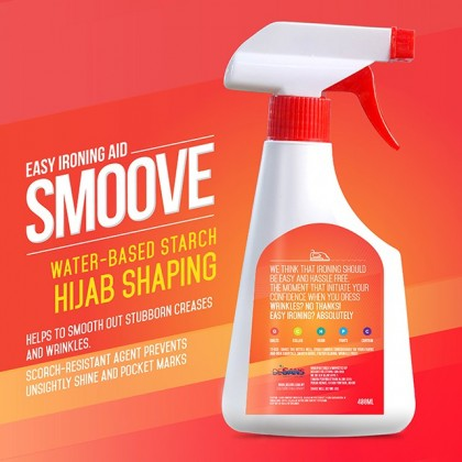 Spray Pengeras Tudung Smoove Hijab Starch Spray Desans Murah 400 mL