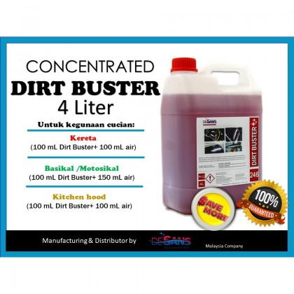 DESANS 246 Dirt Buster (Concentrated) 4 Liter for Car, Motorcyle, Bicycle, Kitchen