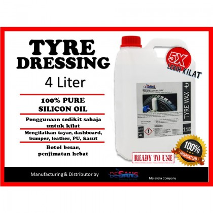 Desans 118 Tyre Dressing Silicon 4 Liter (Big Bottle)