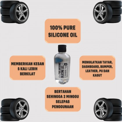Tyre wax Silicon/Tyre Dressing Silicone 250g Desans 118
