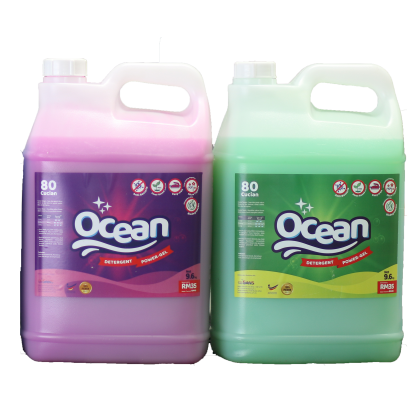 Ocean Laundry Detergent ECONOMY Fabric Antibacteria PURPLE+GREEN