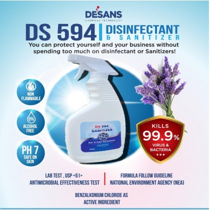 DS594 ALL PURPOSE ANTIBACTERIAL (DISINFECTANT) SPRAY ( Fragrance Lavender )