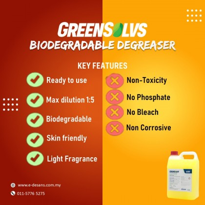 GreenSolvs A301 - Heavy Duty Degreaser 4 Liter
