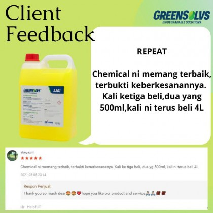 Biodegradable Degreaser (Heavy Duty ) GreenSolvs A301 - 4 Liter