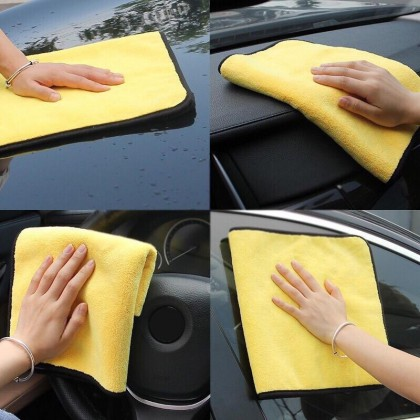 Microfiber Yellow Towels High Water Absorption[Washing Cloth]